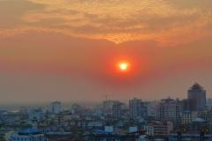 Blick über Yangon