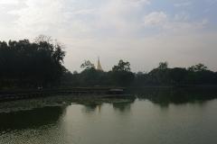 Blick zur Shwedagon Pagoda